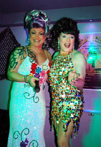 Amber Dextrous and Dr Bev drag queen show